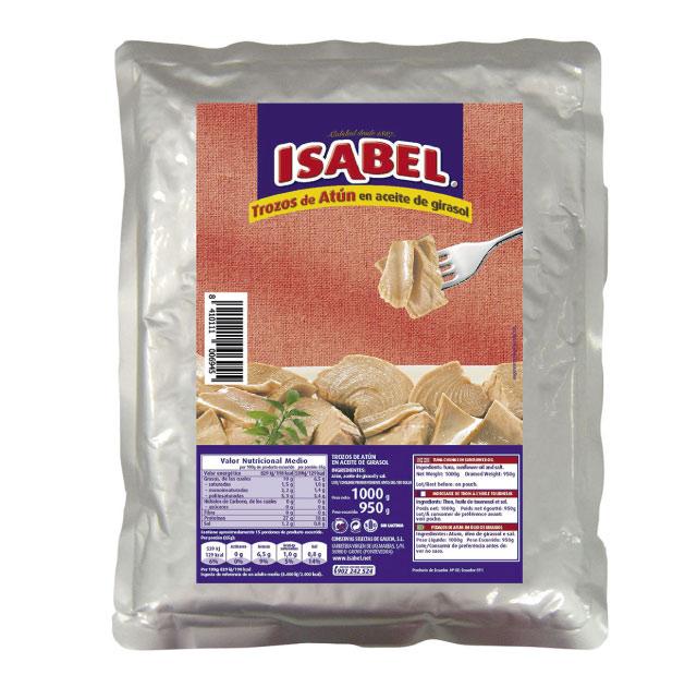 3fc718e5c Atún Isabel trozos aceite girasol bolsa | Suministros Berciano